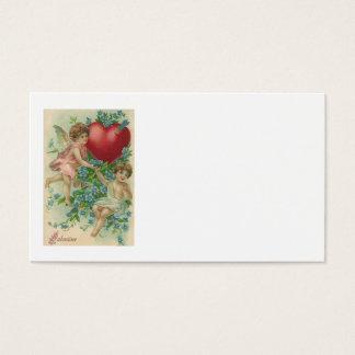 Cartão De Visitas Miosótis da seta do coração do Cupido do querubim