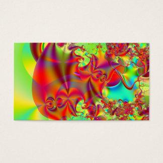 Cartão De Visitas Mirador II · Arte do Fractal · Vermelho & verde