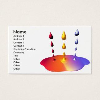 Cartão De Visitas Mistura da pintura - tamanho do negócio