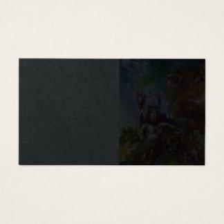 Cartão De Visitas Mitologia grega de JUPITER E de LEÃO, papel preto