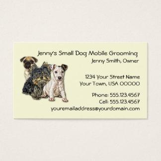 Cartão De Visitas Móbil pequeno do cão que prepara um negócio C de
