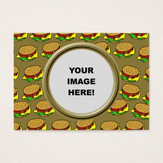 Cartão De Visitas Modelo, beira do hamburguer