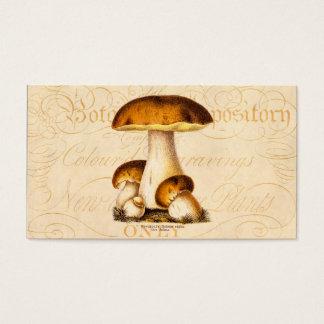 Cartão De Visitas Modelo comestível dos cogumelos do cogumelo dos
