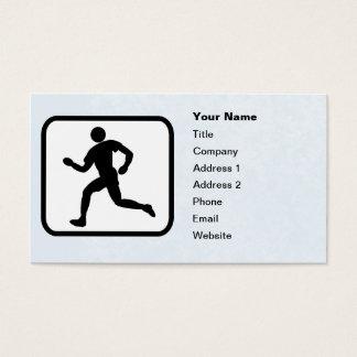Cartão De Visitas Modelo customizável do logotipo do corredor
