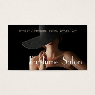 Cartão De Visitas Modelo do aroma do perfume da fragrância do salão