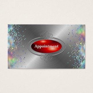 Cartão De Visitas Modelo elegante da nomeação do Sequin