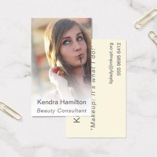 Cartão De Visitas Modelo enevoado da foto da composição do