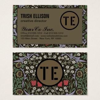 Cartão De Visitas Modelo feito sob encomenda floral de Morris do