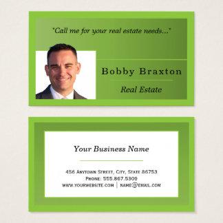 Cartão De Visitas Modelo Freelance aninhado borda de Forest Green