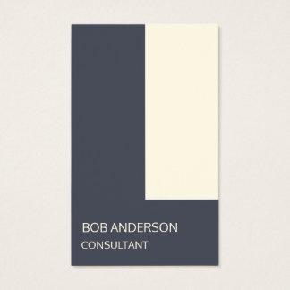 Cartão De Visitas Modelo na moda do minimalismo do marfim do índigo