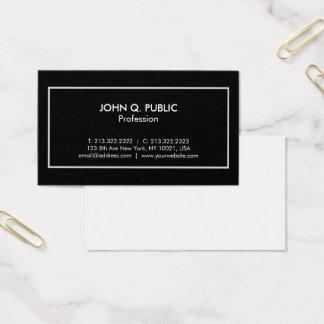 Cartão De Visitas Moderno branco preto elegante profissional à moda