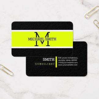 Cartão De Visitas Moderno Chartreuse profissional do monograma