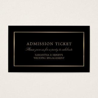 Cartão De Visitas Moderno e lustroso, preto e ouro, bilhete da