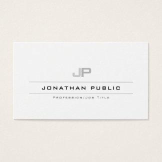 Cartão De Visitas Moderno elegante liso limpo do monograma