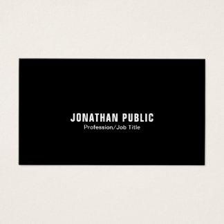 Cartão De Visitas Moderno limpo branco preto elegante profissional