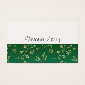 Cartão De Visitas Moderno minimalista do design floral personalizado