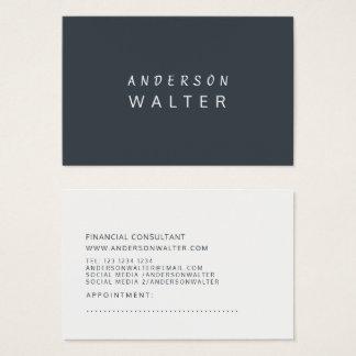 Cartão De Visitas Moderno profissional corajoso minimalista verde do