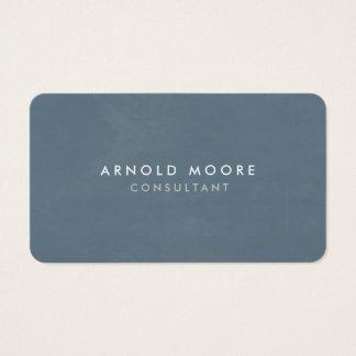 Cartão De Visitas Moderno profissional do cinza azul de canto
