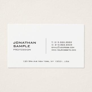 Cartão De Visitas Moderno profissional liso à moda de Minimalistic