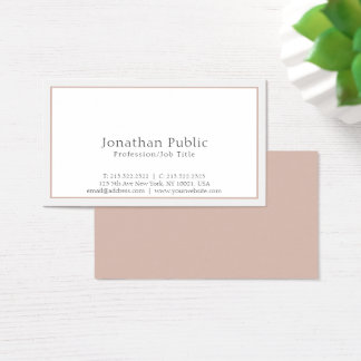 Cartão De Visitas Moderno profissional liso elegante simples
