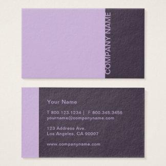 Cartão De Visitas Moderno roxo da beringela da urze