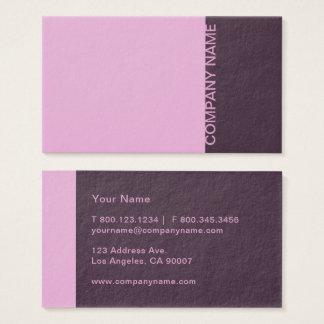 Cartão De Visitas Moderno roxo da lavanda