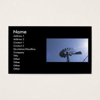 Cartão De Visitas Moinho de vento da luz do sol