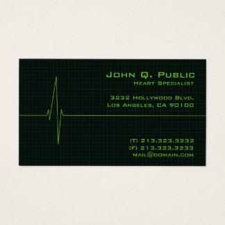 Cartão De Visitas Monitor de coração médico