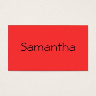 Cartão De Visitas Monocromático na toranja vermelha