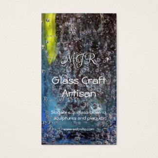 Cartão De Visitas Monograma, bolhas no vidro, Glassworker