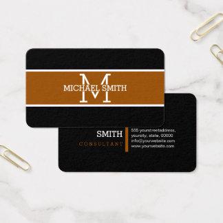 Cartão De Visitas Monograma Brown profissional moderno