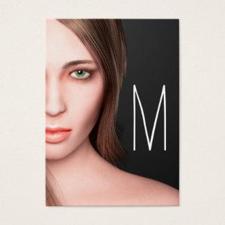 Cartão De Visitas Monograma da menina da forma
