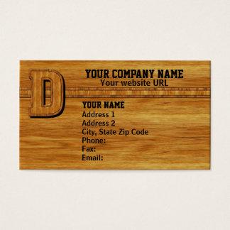 Cartão De Visitas Monograma de madeira D