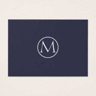 Cartão De Visitas Monograma elegante do índigo