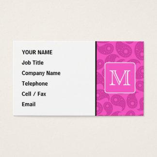 Cartão De Visitas Monograma feito sob encomenda. Teste padrão