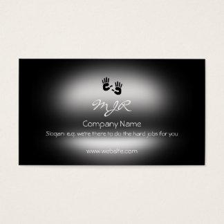 Cartão De Visitas Monograma, mãos amiga, metálico-efeito