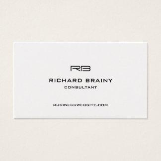 Cartão De Visitas Monograma moderno elegante