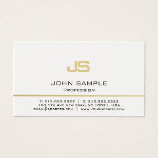 Cartão De Visitas Monograma moderno profissional minimalista do ouro