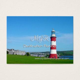 Cartão De Visitas Monograma, planejador do destino, excursões do