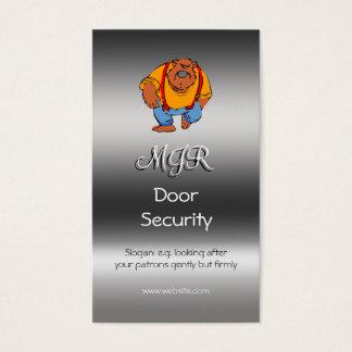Cartão De Visitas Monograma, segurança da porta do clube nocturno,