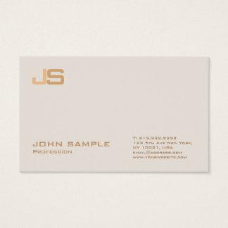 Cartão De Visitas Monograma superior profissional na moda do