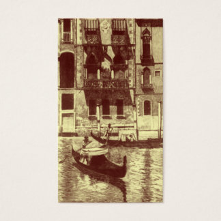 Cartão De Visitas Monótonos Venetian nas máscaras de Brown & de