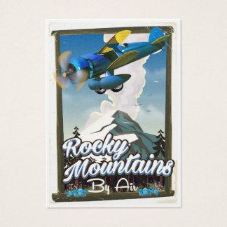 Cartão De Visitas Montanhas rochosas pelo ar!
