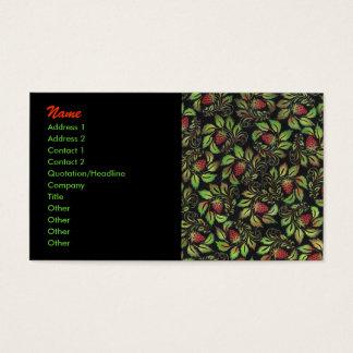 Cartão De Visitas morango