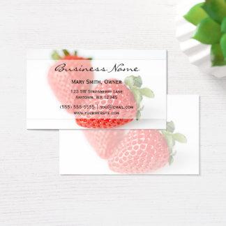 Cartão De Visitas Morangos frescas