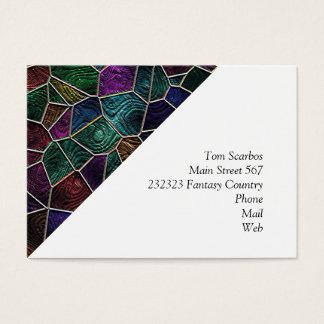 Cartão De Visitas Mosaico Lora, multicolorido