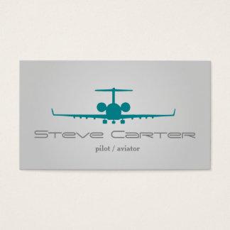 Cartão De Visitas Mosca cinzenta do céu piloto do plano do