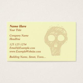 Cartão De Visitas Motif. da ilustração do crânio