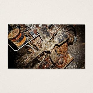 Cartão De Visitas Motor do vintage