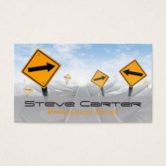 Cartão De Visitas Motorista/transporte/sinal de estrada automotriz